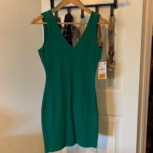 NWT Trafaluc by Zara V Neck & Back Dress